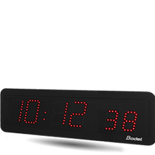 horloge LED style 7S rouge min
