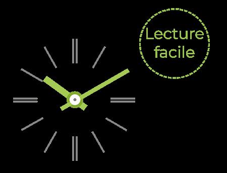 Une lecture facile pour l'horloge Profil TGV 930