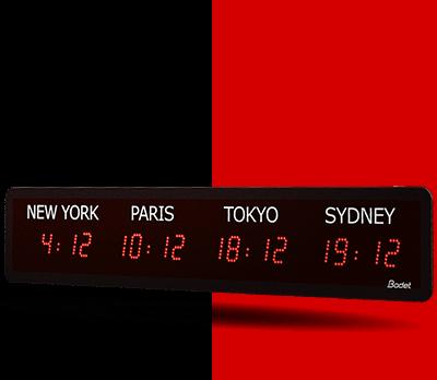 Horloge-LED-style-mondiale