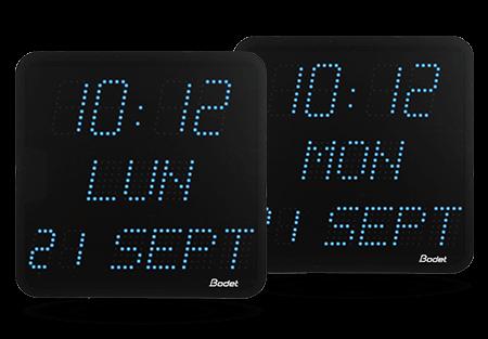 Liste des fonctions horloges led style 7 date