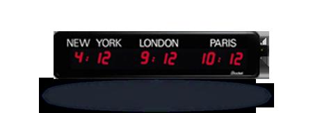 Horloge LED Style Mondiale 3 villes multifonction